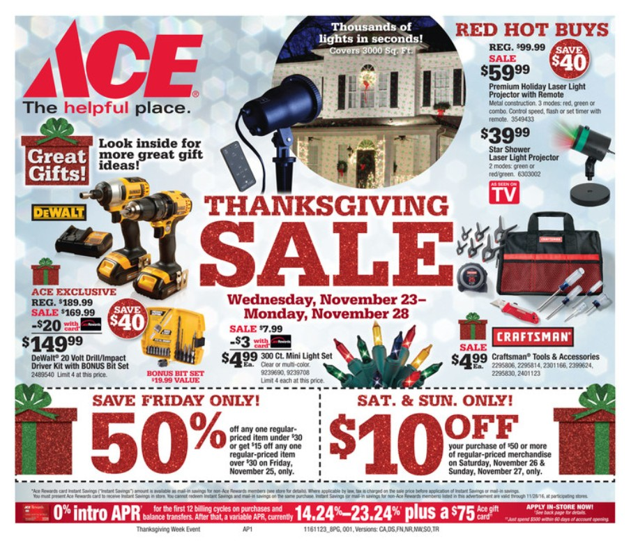 Ace Hardware Black Friday page 1